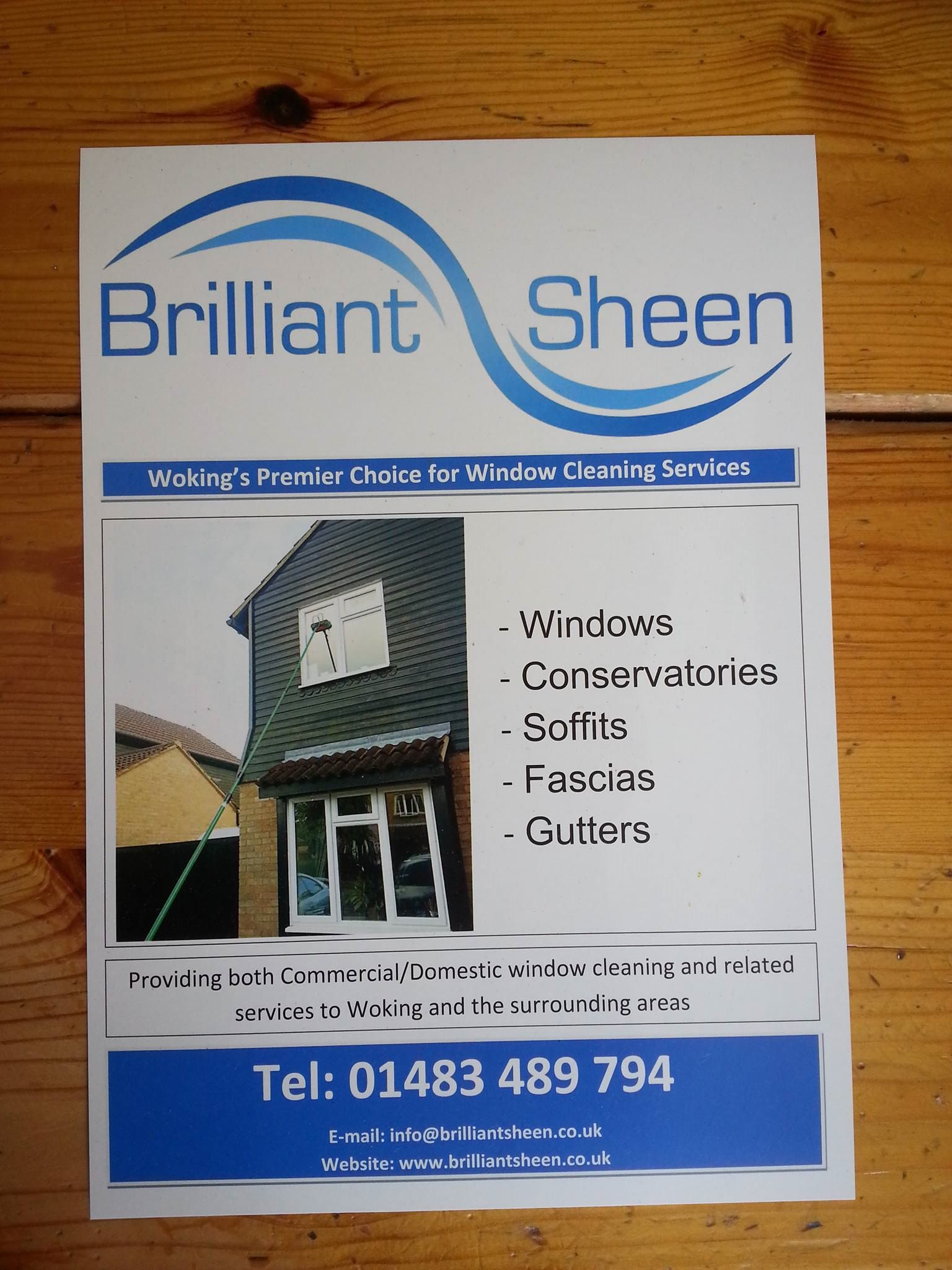 gallery flyer advertising brilliant sheen services